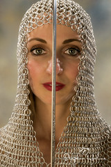 Chain Mail (stephen.hulme) Tags: chain mail women sword femail breast