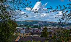 Urban landscape (Peter Leigh50) Tags: city cityscape trees town sheffield hillsborough wednesday football stadium hill sunshine clouds cloud landscape fujifilm fuji xt2