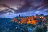 Pitigliano at Dusk (hapulcu) Tags: italia italie italien italy pitigliano sorano toscana toscane tuscany volterra winter
