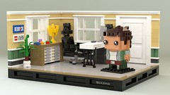 BrickJonas - Brickheadz Selfie (BrickJonas) Tags: lego brickheadz selfie creation render rendering rebrick contest