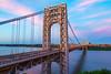 George Washington Bridge (Photos By RM) Tags: gwb georgewashingtonbridge longexposure sunset sky pink architecture newyorkcity nyc hudsonriver bridge view