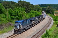 Something Borrowed, Something Blue (H-bob-omb) Tags: cefx ge ac4400cw 1048 emerson georgia locomotive train railroad
