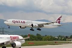 Qatar Airways QR99. A7-BAL. Boeing 777-3DZ(ER). GVA. (Themarcogoon49) Tags: boeing b777 aircraft qatar airways gva lsgg cointrin airport avgeek planespotting switzerland aviation