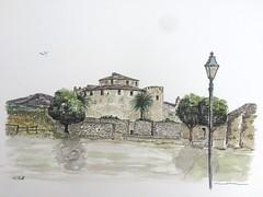 La citadelle de Saint Florent en Corse (J-M.I) Tags: aquarelle art house architecture watercolour dessin illustration graphisme artiste exposition corse saint florent