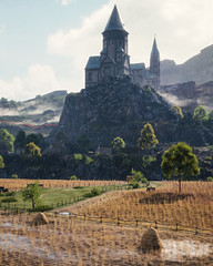 """Castle On A Cliff"" (Omegapepper) Tags: wallpaper screenarchery screenshot gaming games videogame digital photography photomode photostitch landscape wot world tanks war vintage summer nature castle nvidia camera tools"