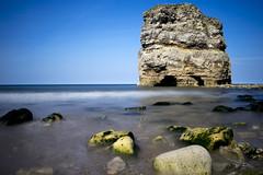 Marsden Rock in Colour (daveharman70) Tags: southtyneside sea seascape sealife beachlife water northsea northeast coast sony leefilters sun england spring rocks cliffs geology lighthouse landmark souter marsden longexposure north tide