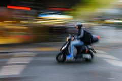 Blink and the weekend's gone! (Derek Midgley) Tags: dsc00806 motorbike motorcycle dude melbourne pan slow shutter