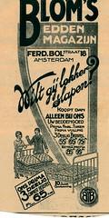 de stad Amsterdam 1923 adv bloms bedden (janwillemsen) Tags: advertising amsterdam 1923 magazineillustration