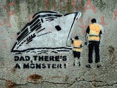 Local anti-cruise liner graffiti