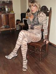 Karen (Karen Maris) Tags: tg tgirl tgurl karen legs bodystocking tranny trannie transsexual transvestite transgender pantyhose tights heels sandals sheer crossdress crossdresser