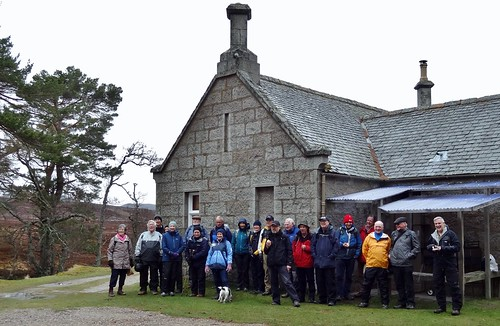 All the walking group except Iain at Gelder Shiel