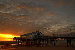 Cleethorpes pier (alan.irons) Tags: pier eastcoast northeastlincolnshire cleethorpes sunrise dawn beach victorian fishchips restaurant clouds light humberestuary sea coastal ironwork seaside holiday daytrip
