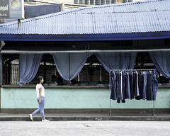 Denim (Beegee49) Tags: street restaurant clothes rack denim jeans filipina walking bacolod city philippines