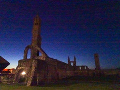 St Andrews Cathedral at night, 2018 May 01 (Dunnock_D) Tags: uk unitedkingdom britain scotland fife standrews cathedral night green grass blue sky