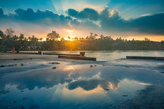 Beautiful sky and reflection at Dawn, Koh Kood (Ko Kut) Island.