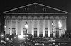 Assemblee Nationale (albyn.davis) Tags: paris france europe building architecture blackandwhite light streetlamps lamps traffic city urban travel night lights