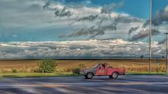 Tormenta en el camino (Ucachabio) Tags: xiaomimia1 storm road ruta tormenta cielo sky ford f100 córdobaargentina