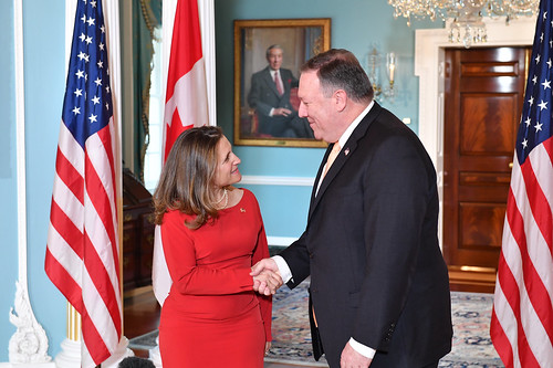 Secretary Pompeo Meets With Canadian Foreign Minister Freeland, From FlickrPhotos