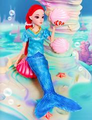 Little fishy (MizuiroPearlVoice) Tags: mermaid doll pirates clownfish figure anime red hair barbie sirena ningyo princess