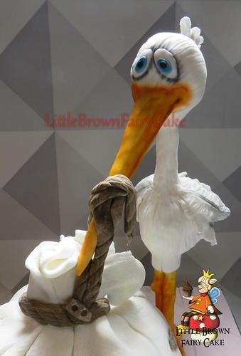 a close stork