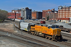 """Northbound Manifest in Kansas City, MO (""""Righteous"""" Grant G.) Tags: up union pacific railroad railway locomotive train trains north northbound manifest freight ge power engine kansas city missouri"""