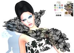 LuceMia - JUMO (MISS V♛ ITALY 2015 ♛ 4th runner up MVW 2015) Tags: jumo secondlife sl creations originals spring eyeshadows collar hud colors beauty makeup blog hair skyler models lucemia event cosmeticfairanniversary
