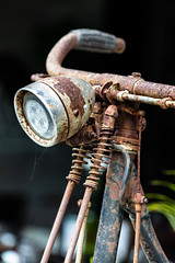 Perhaps I won't ride at night (A Different Perspective) Tags: bali bicycle handlebar lamp light old rust spring