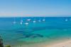 Melody of Blues (Vienna W.) Tags: ocean sea shoreline shore yacht france french porquelloes fujifilm beach