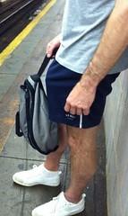Furry and bulging! (mike--123) Tags: shorts vpl bulge