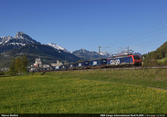 Alps crossing... (Marco Stellini) Tags: sbb cff ffs cargo international siemens e474 re474 es64f4 gotthard tunnel container hupac