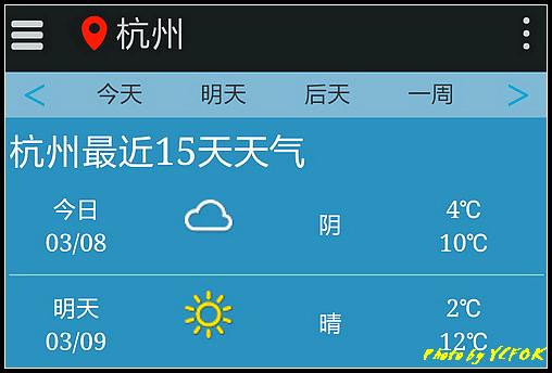 杭州 2018-03-08 天氣