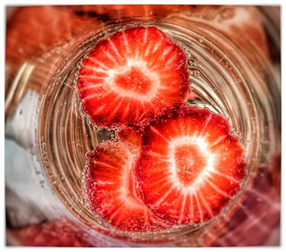 prosecco & strawbs...zoom in for those bubbles....thank you for following