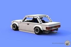 Old School BMW rear - 7-wide - Lego (Sir.Manperson) Tags: moc lego render bmw ldd 7wide