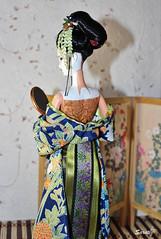 Japanese girl (saratiz) Tags: kimono yukata katana barbie tatami tsumamikanzashi ooak maiko
