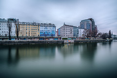 The colors of Vienna (D a n i V a l d é s) Tags: city cityscape landscape landscapes xt2 fuji fujifilmxt2 fujifilm fujixt2 travel fun light colors color colours river water longexposure beauty beautiful vienna austria clouds
