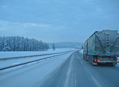 winter road (Leifskandsen) Tags: road slippery cold winter drive truck woods camera canon living leifskandsen skandsenimages scandinavia skandsen