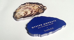 Oyster Shaped Die Cut Business Cards