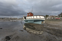 Merlin Reflecting with Moody Sky's (THE NUTTY PHOTOGRAPHER) Tags: dellquays chichester chichesterchannel moodyskys