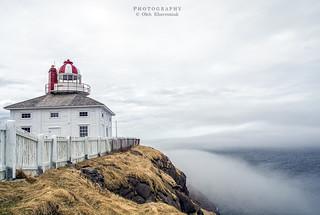 Cape Spear Lighthouse. Over the fog