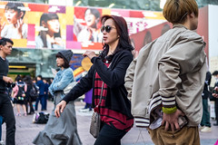 Endless Shades Of Red (burnt dirt) Tags: asian japan tokyo shibuya station streetphotography documentary candid portrait fujifilm xt1 laugh smile cute sexy latina young girl woman japanese korean thai dress skirt shorts jeans jacket leather pants boots heels stilettos bra stockings tights yogapants leggings couple lovers friends longhair shorthair ponytail cellphone glasses sunglasses blonde brunette redhead tattoo model train bus busstation metro city town downtown sidewalk pretty beautiful selfie fashion pregnant sweater people person costume cosplay red blue plaid square gold