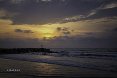 shhhh... peaceful (J. Kaphan Studios) Tags: beach beachlife travel travelphotography traveler sunset clouds cloudporn ocean waves colombia colorful peaceful fujixseries fujifilm seascape landscape landscapephotography