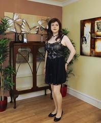 Corset dress (Joanne (Hay Llamas!)) Tags: transgender shemale genderfluid genderqueer tg brunette tgirl gurl cute uk brit british britgirl joanne hayllamas corset dress cocktail elegant