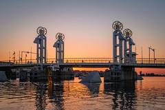 Stadsbrug, Kampen bij zonsondergang (Gerrit Veldman) Tags: dutch holland ijssel kampen nederland netherlands overijssel stadsbrug bridge brug river rivier water zonsondergang sunset olympus epl7