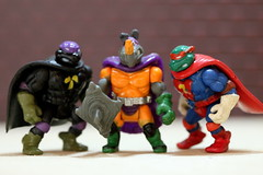 Rock Steady's Nightmares - Bijou Planks 154/365 (MayorPaprika) Tags: mini figs figure paprihaven pvc miniature smallscale figurine theater diorama toy story scene custom bricks bijouplanks plastic canoneosrebelt6i macro tmnt teenage mutant ninja turtles super raphael donatello rocksteady