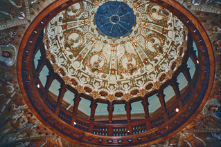 St Augustine  Florida - Ponce de Leon Hotel - Flagler College - Interior Dome