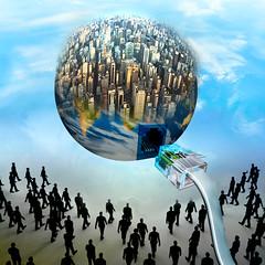 Floating (jaci XIII) Tags: flutuando globo pessoa silhueta surrealismo fantasia cidade floating globe person silhouette surrealism fantasy city
