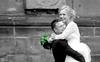 Swept away (John (Thank you for >2 million views)) Tags: monochrome streetphotography candidphotography travelphotography bw blancoynegro wedding couple smiling emotion humour celebration