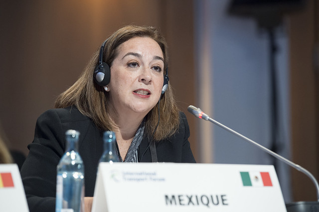 Alejandra Puente Ortega speaks at the ministerial session