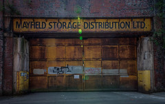 Mayfield (David Morton) Tags: manchester england unitedkingdom mayfield canon6d hdr storage street sign doorway entrance doors distribution