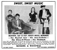 1948 Mussehl & Westphal novelty musical instruments (Al Q) Tags: 1948 mussehl westphal novelty musical instruments saw jazzonette glassophone pitchfork fort atkinson wisconsin